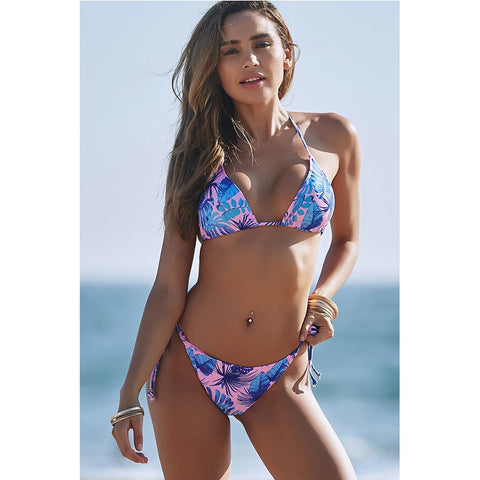 Colorful Tropical Bikini Set 070119