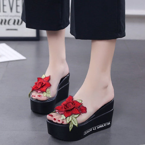 Lovely Flower High Sandel Shoe 160619