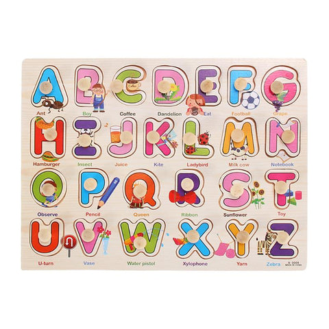Children Learning  Puzzle Board
