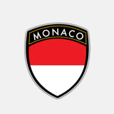 Monaco Flag Sticker 180519