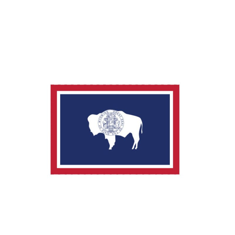 Wyoming Flag Sticker 180519