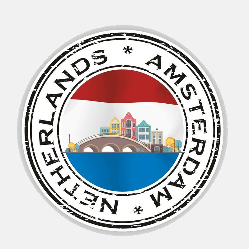 Netherlands Amsterdam Sticker 200519