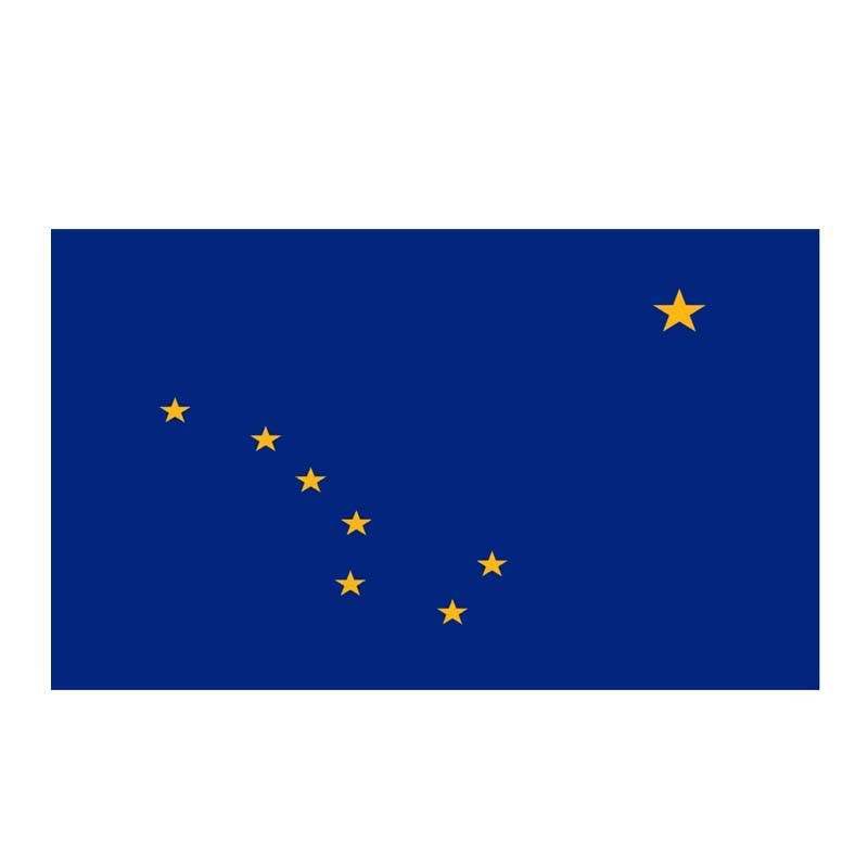 Alaska Flag Sticker 180519
