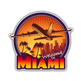 Miami Travel Sticker 200519