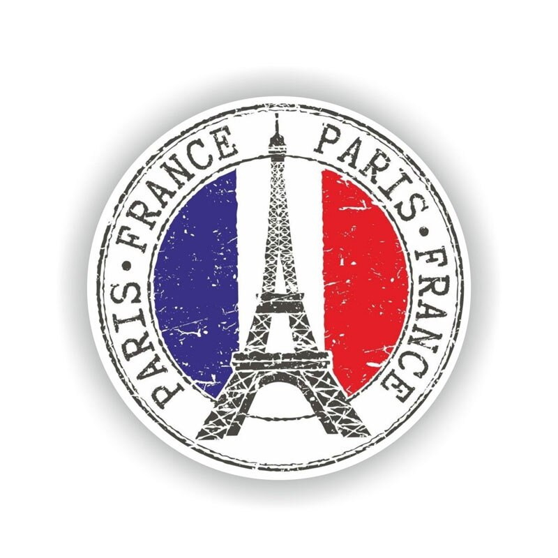 France Paris Sticker 200519