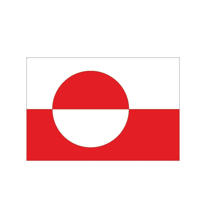 Greenland Flag Sticker 200519