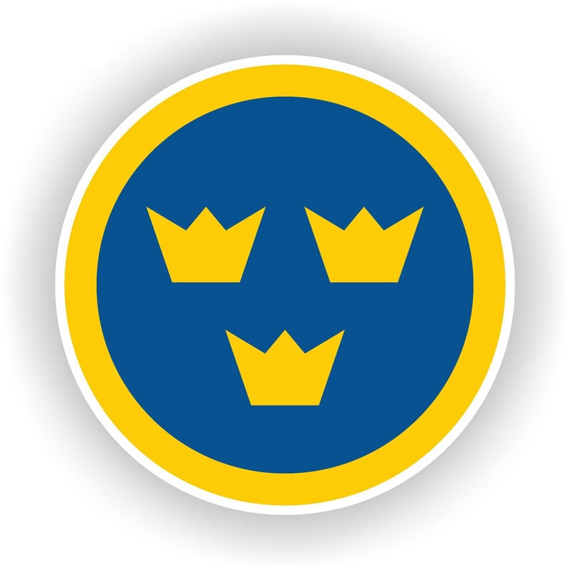Sweden Air Force Sticker 180519