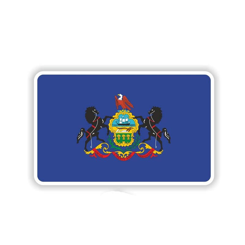 Pennsylvania Flag Sticker 180519