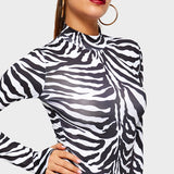 Good Looing Stripe Bodysuit 301218