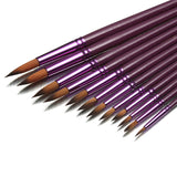 Fine Paint Brush Set (12 Pcs)