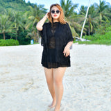 Black Plus Size Swimsuit Set