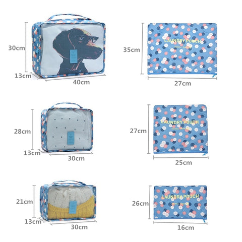 6 Pcs Cube Travel Bag