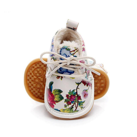 Fashion Floral Style Winter Fleece Boots