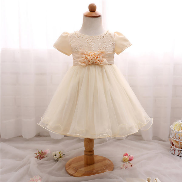 Costume Princess Cute Flower Waistline Party Dress (3 - 24 Months)