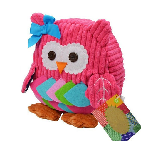 [New Arrival] !! Pink Owl Cute Animal Cartoon Kids Backpack With Comfortable Straps