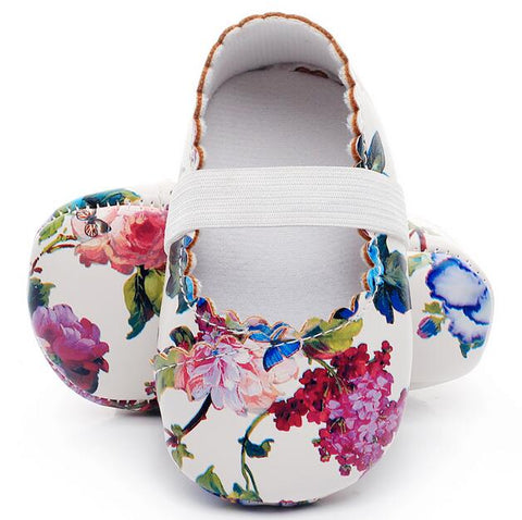 60 Mins Flash Sale ---- Floral Style Soft PU Leather Baby Girls Shoes