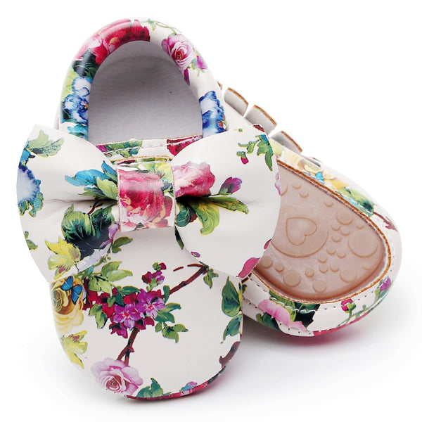 Fashion Floral Toddler Bow Knot Moccasins