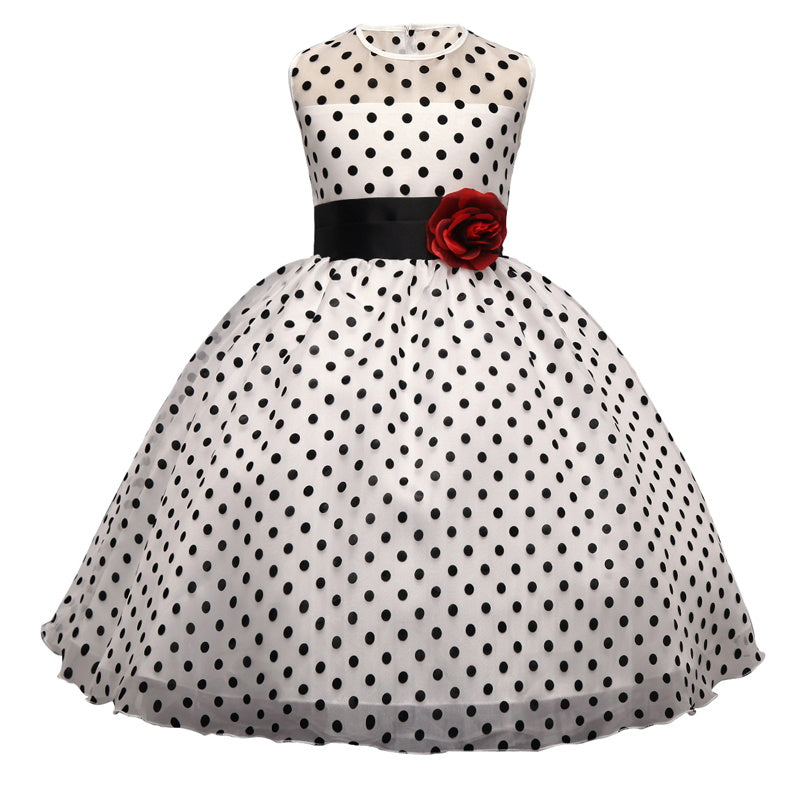 d28926b74f Kids Classic Polka Dot Girls Dress