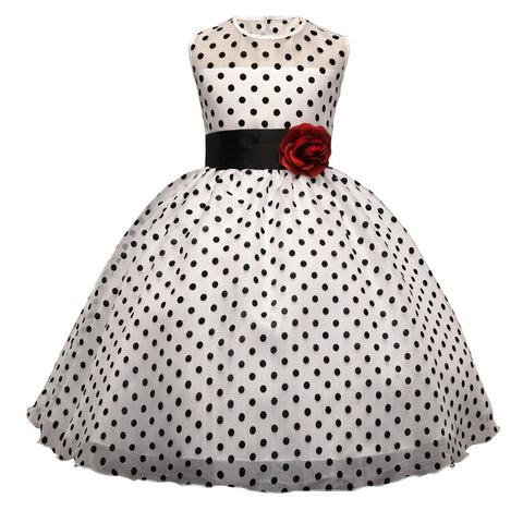Kids Classic Polka Dot Girls Dress
