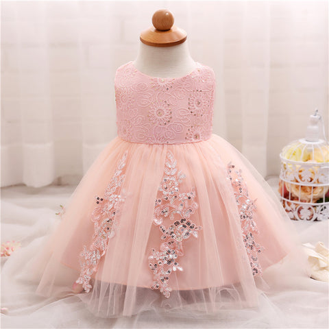 Princess Costume Sparkle Lace Party Dress (3 - 24 Months)