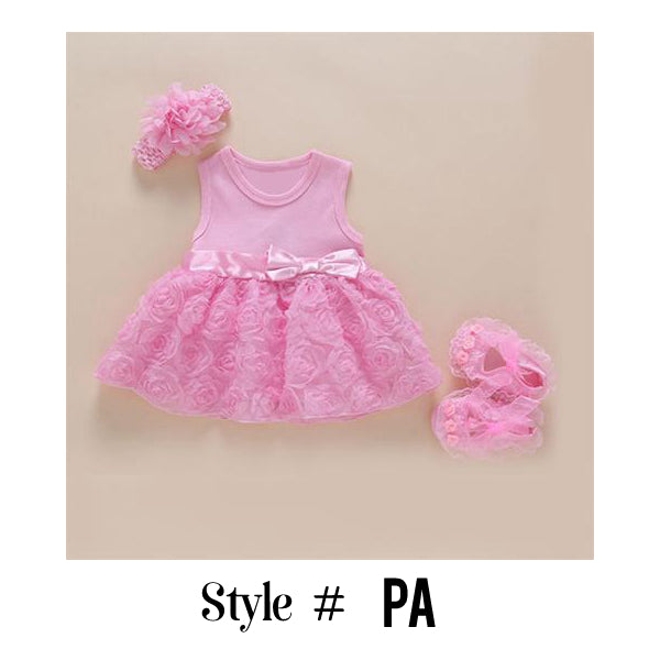 c3fdf5fdc809 2018 Baby Girls Lace Floral Dress Set (0-2years)  40% Off + Free ...