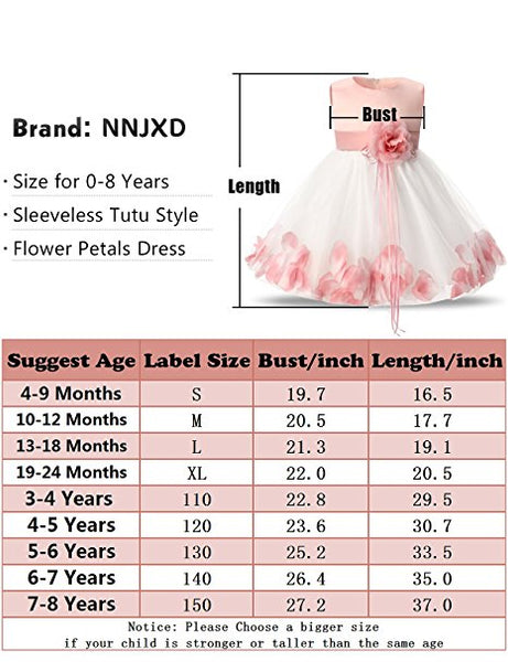 Little Girls' 3D Flower Formal Wedding Bridesmaid Party Dress Sequin Dress Princess Tulle Dresses (Warm Color Series)
