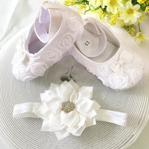 Snow White Flower Shoes & Princess Lace Headband (In One Set)!