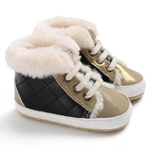 2018 Fashion Style Winter Fleece Baby Boots For Boys