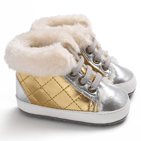 2018 Fashion Style Winter Fleece Baby Boots For Girls & Boys