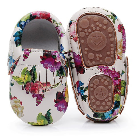 Fashion Floral Baby Moccasins