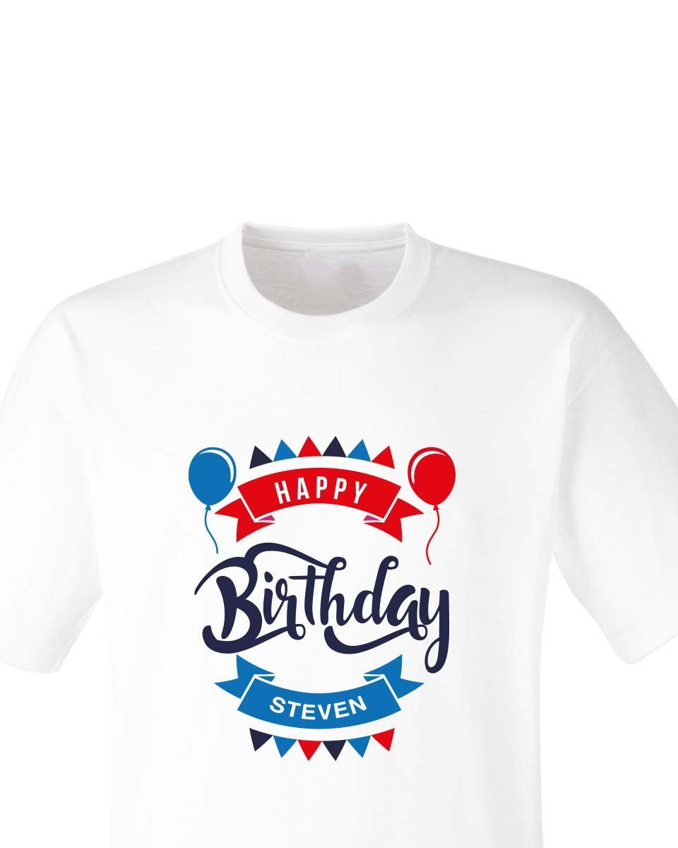 Personalised Happy Birthday T Shirt