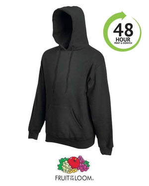 Fruit Of The Loom Men's Classic Hooded Sweatshirt - Print Chimp