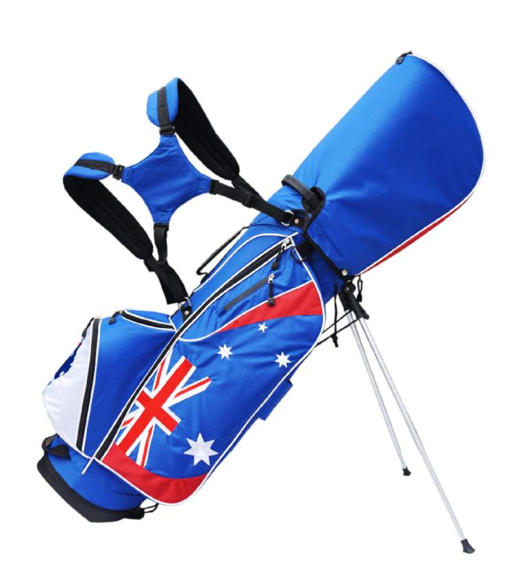 Australian Flag Stand/Carry Bag The Back Nine Online - Custom HeadCovers & Custom Golf Bags