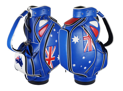 Australian Flag Tournament Staff Bag The Back Nine Online - Custom HeadCovers & Custom Golf Bags