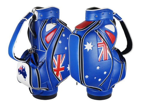 Australian Flag - Custom Tournament Staff Bag The Back Nine Online - Custom HeadCovers & Custom Golf Bags
