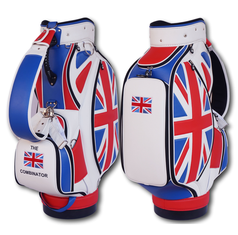 Union Jack Heritage Tournament Staff Bag The Back Nine Online - Custom HeadCovers & Custom Golf Bags