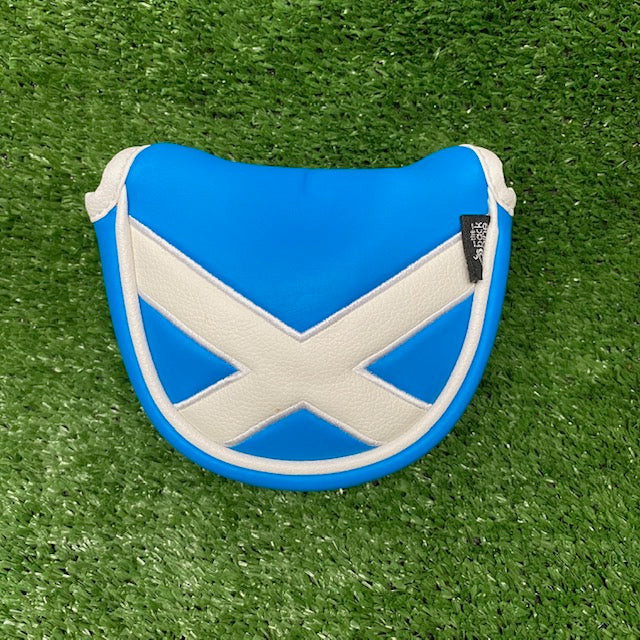 Scottish Flag Mallet Putter Cover The Back Nine Online - Custom HeadCovers & Custom Golf Bags