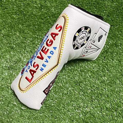 """Las Vegas"" Blade Custom Putter Cover The Back Nine Online - Custom HeadCovers & Custom Golf Bags"