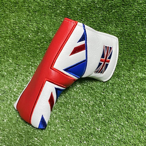 """ British Flag"" Custom Blade Putter Cover The Back Nine Online - Custom HeadCovers & Custom Golf Bags"