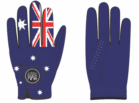 Premium AA Cabretta Golf Glove - Aussie Flag - The Back Nine Online