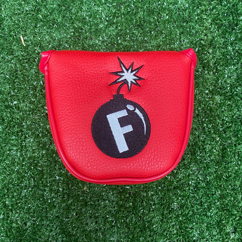 """F-Bomb"" Mallet Putter Cover The Back Nine Online - Custom HeadCovers & Custom Golf Bags"