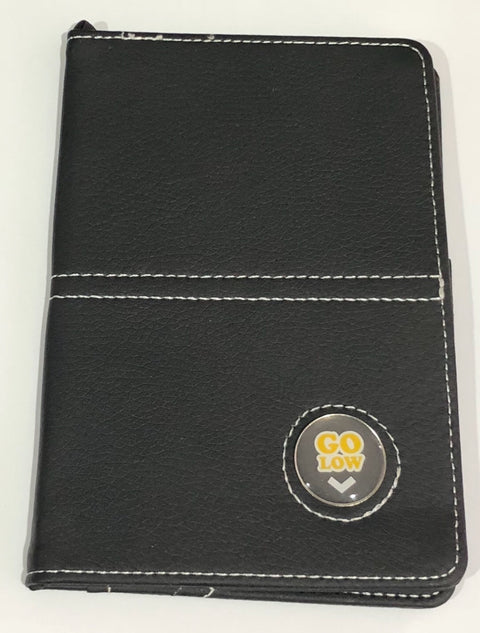 ScoreCard Holder - PU Leather with Custom Ball Marker - The Back Nine Online