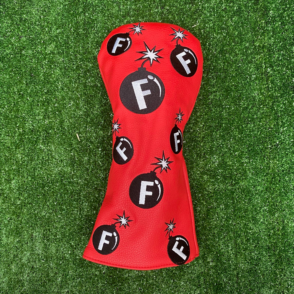 """F-Bomb"" Driver Cover The Back Nine Online - Custom HeadCovers & Custom Golf Bags"