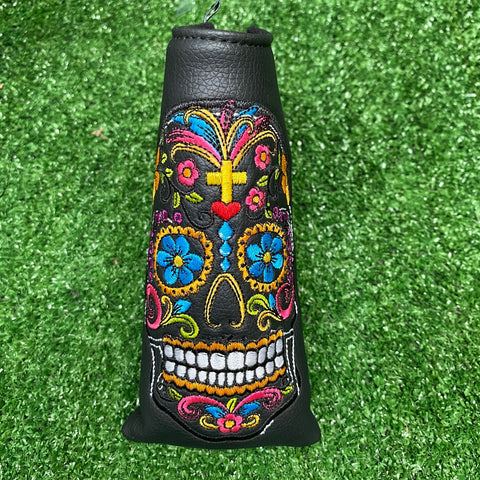 Sugar Skull Blade Putter Cover The Back Nine Online - Custom Golf Bags, HeadCovers and Golf Towels