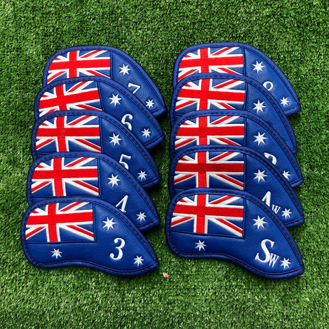 Australian Flag - Iron Cover Set (3-9, PW, AW, SW) The Back Nine Online - Custom HeadCovers & Custom Golf Bags