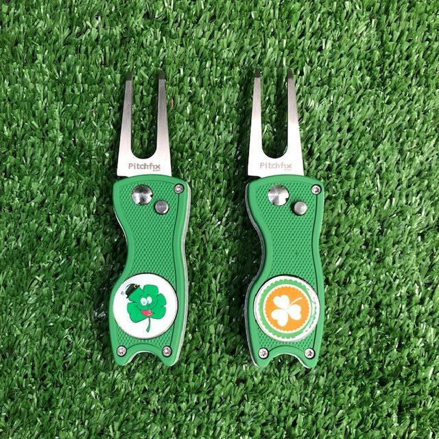 Pitchfix Hybrid Repair Tool with Irish Ball Marker The Back Nine Online - Custom HeadCovers & Custom Golf Bags