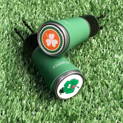 Pitchfix Twister 2.0 - Green with Irish Ball Marker The Back Nine Online - Custom HeadCovers & Custom Golf Bags
