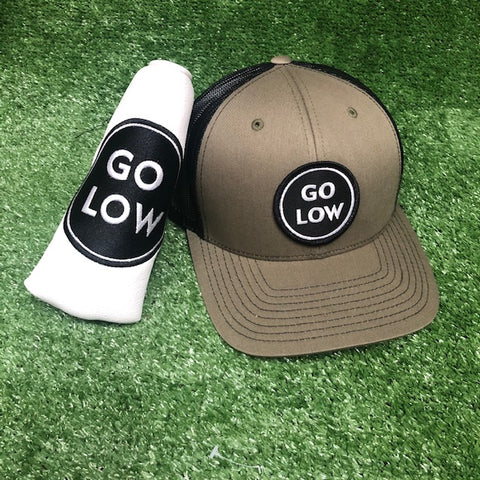 Go Low Putter Cover & Snapback Cap The Back Nine Online - Custom HeadCovers & Custom Golf Bags