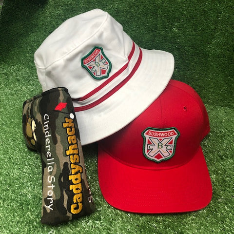 """Triple Pack"" - Caddyshack Putter Cover + Bushwood Bucket & SnapBack Cap"