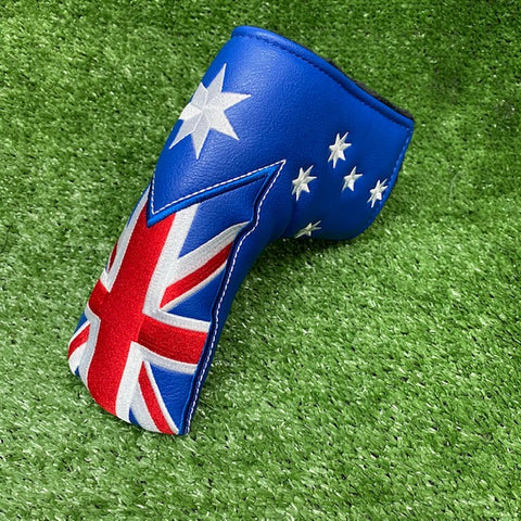 Australian Flag - Blade Putter Cover The Back Nine Online - Custom HeadCovers & Custom Golf Bags